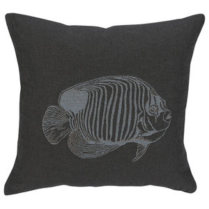 Oxygen Scatter Cushion, Grey, Fish