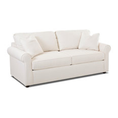Klaussner - Brighton Dreamquest Queen Sleeper Sofa, Bull Natural - Sleeper Sofas
