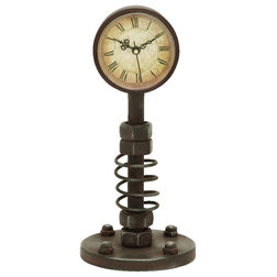 Simple Industrial Desk And Mantel Clocks by Benzara Woodland Imprts The Urban Port