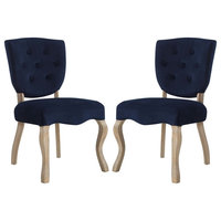 Array Dining Side Chair Set of 2, Midnight Blue