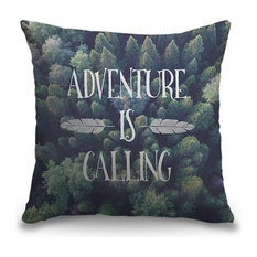 """Adventure is Calling"" Pillow 18""x18"""