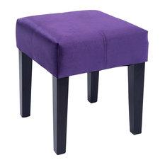 "Corliving Antonio 16"" Square Bench, Purple Velvet"