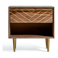 MOD   Starke Mid Century Modern Bedside Table With Drawer   Nightstands And Bedside  Tables