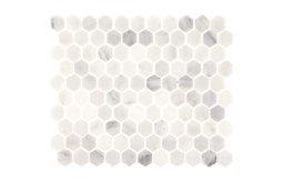"""Aspen White Marble 1"""" Hexagon Tile"""
