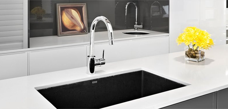 Simple Up to Off Kitchen Sinks and Faucets