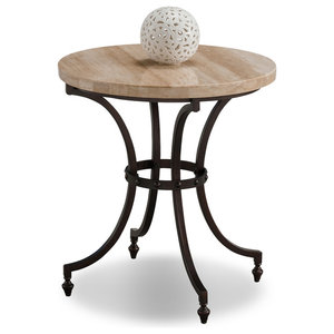 43969e6af3 Vault Metal Granite Stool/Table, Gold - Contemporary - Side Tables ...