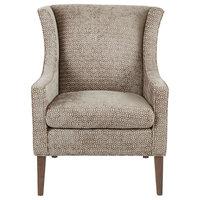 Madison Park Addy Wing Chair, Mushroom