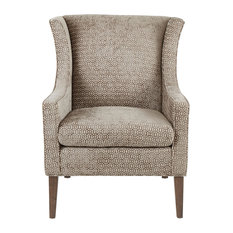 Madison Park Addy Wing Chair Mushroom