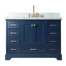 48-inch Solid Wood Sink Vanity Without Faucet Blue