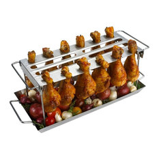 Home Wet Bar - Anti-Flare-Up Grilled Chicken Wings WingRack - Grill Tools & Accessories