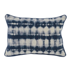 "Atami 100% Linen 14""x20"" Throw Pillow, Blue by Kosas Home"