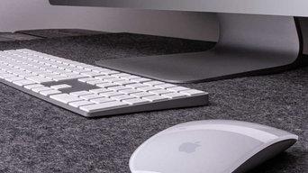 Filz Schreibtischauflage auf Maß, bicolor gau