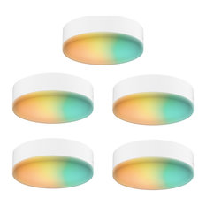 DALS Lighting Smart RGB-CCT Under Cabinet Puck Kit, 5-Pack