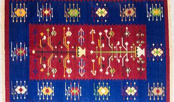 Handwoven cotton dhurries from Kalavilasa