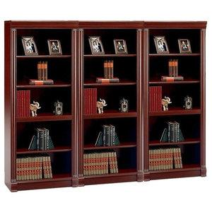 Bush Birmingham 5 Shelf Wall Bookcase in Harvest Cherry