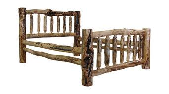 Aspen Log Bed Furniture