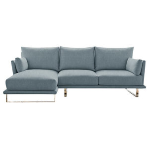 Eleanor Chaise Sofa, Wedgewood, 3-Seater, Left Hand Facing