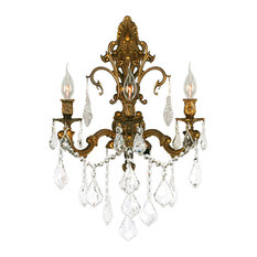 25 most popular victorian wall sconces for 2018 houzz crystal lighting palace traditional elegance 3 light french gold finish crystal wall sconce clear aloadofball Gallery
