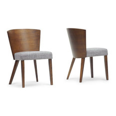 Sparrow Brown Wood Modern Dining Chairs, Set of 2