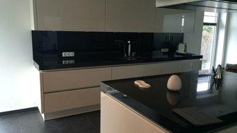 Küchenarbeitsplatte Granitplatte Nero Assoluto