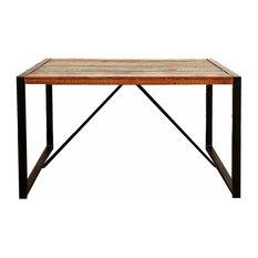 Urban Iron Framed Dining Table, 140 cm