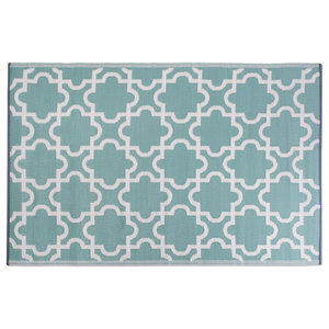 All Weather Indoor Outdoor Moro Tile Rug Contemporary