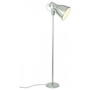 Stirrup Floor Lamp With Etched Glass Diffuser