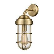Seaport 1-Light Wall Sconce, Satin Brass