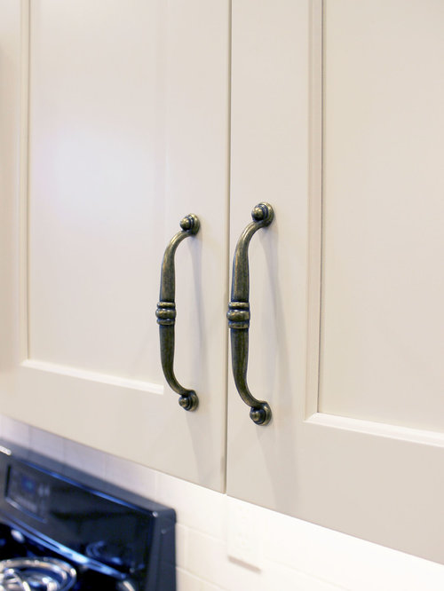 Century Home White Kitchen Remodel ~ Akron, OH - Cabinet And Drawer Handle Pulls