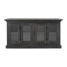 Bastille Sideboard Black Wash Pine
