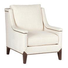Gabby Liam Capped Arm Lounge Chair, Cream Zulu Vanilla