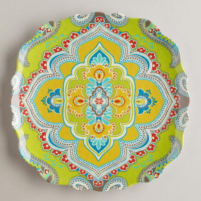 Cute Eclectic Dinner Plates by Cost Plus World Market