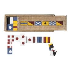 Flag Dominoes Game Set