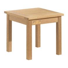 Classic End Table, Natural Shorea