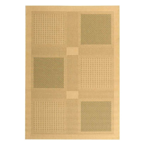 Rectangular Rug, Natural and Olive