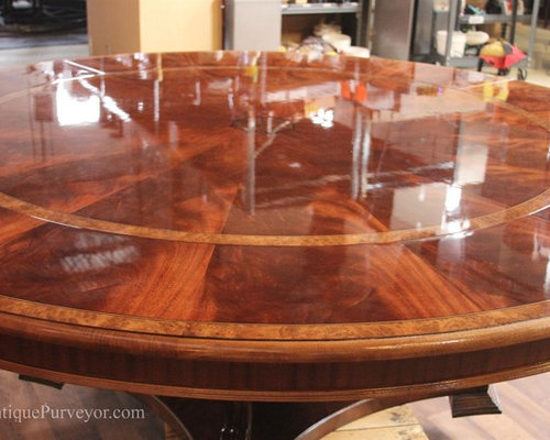 Captivating Oversized 62 To 88 Round Mahogany Dining Table (LH 62 88 21)   Dining
