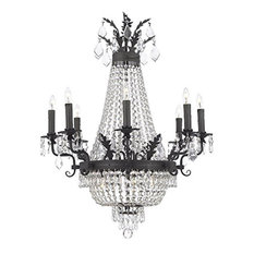 Crystal Chandelier With Dark Antique