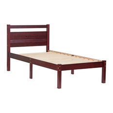 100% Solid Wood Bronx Twin Bed-In-A-Box, Mahogany