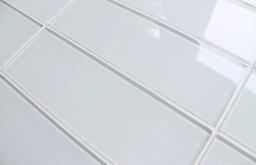 Glass Subway Tile, Linen Ice, Sample of 4x12
