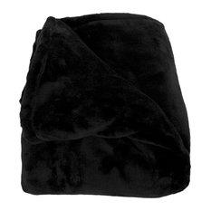 Woven Workz - Elaine Throw Blanket, Black - Throws