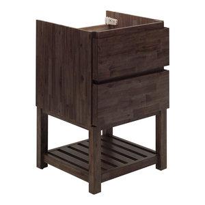 "Formosa Floor Standing Open Bottom Modern Bathroom Cabinet, 23"""