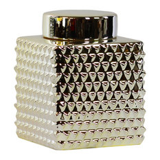 Urban Trends Ceramic Canisters With Champagne