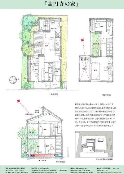 モダン 間取り図 by 株式会社 松井郁夫建築設計事務所