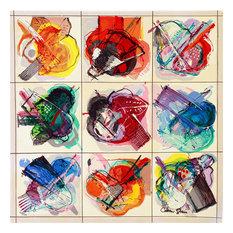 """Shemi """"Flower Kaleidoscope"""", 17.75""""x17.75"""""""