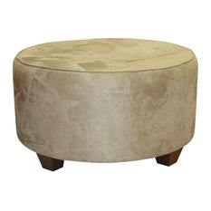 Skyline Furniture Mfg Inc 33 In Round Hand Made Tail Ottoman Footstools And