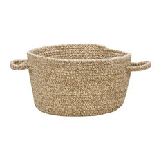 "Manteo Braided Basket, Tan Hues, 16""x16""x9"""