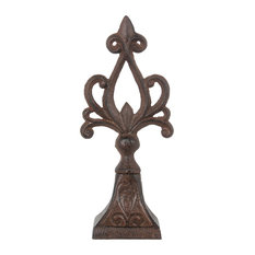 Notre Decorative Finial, Rust Brown