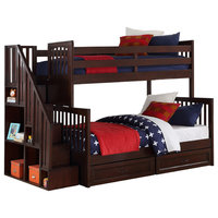 Noah Bunk Bed Twin Over Double, Chocolate