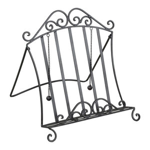 Classic Black Iron Cook Book Stand