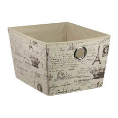 HDS TRADING CORP - Home Basics Paris Non-Woven Open Storage Box - Storage Bins and Boxes